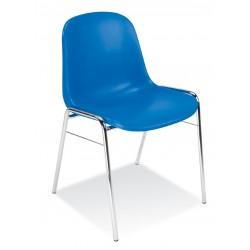Krzesło korytarzowe  z plastikowym siedziskiem