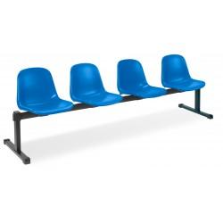 Krzesło Beta 4 z plastikowymi siedziskami