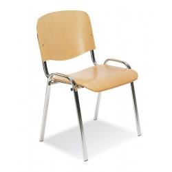 Krzesło Iso wood chrome